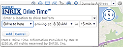 INRIX DriveTime screen shot