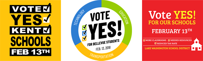 Images - Vote YES for Kent, Bellevue, and Lake Washington School District funding