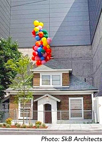 Up house with balloons photo