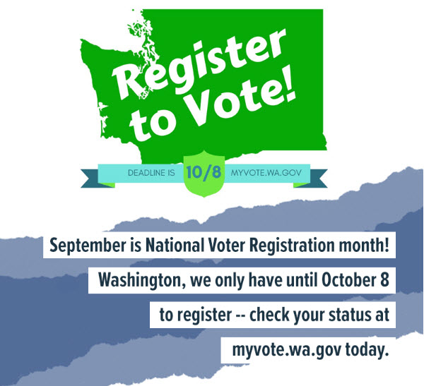 Register to Vote by October 8th