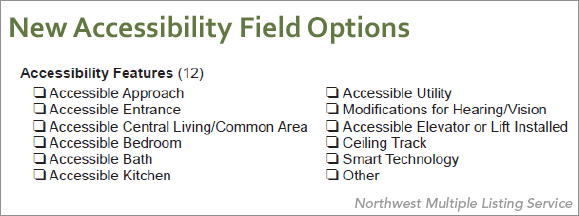 New Accessibility Field Options screen shot