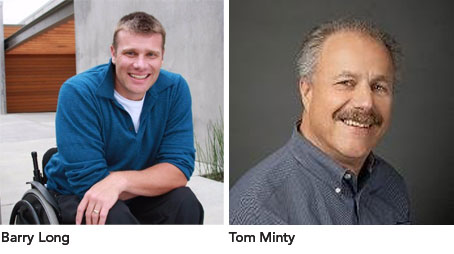 Barry Long and Tom Minty photos