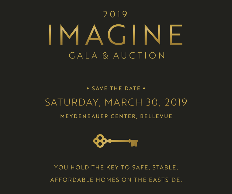 Imagine Housing Gala and Auction invitation