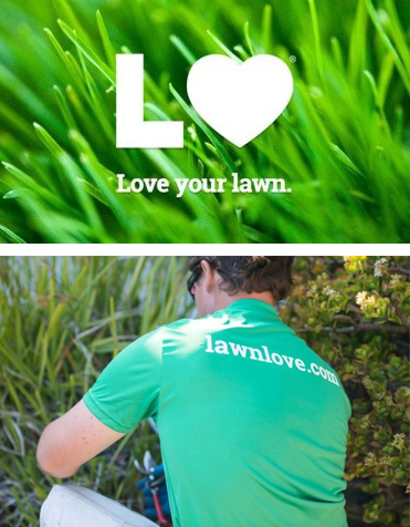 Lawn Love logo and photo